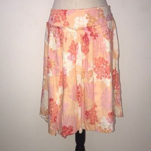 Anthropologie Odille floral cotton skirt